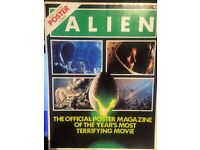 ALIEN THE OFFICIAL POSTER MAGAZINE ISSUES 1 & 2 1979