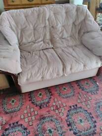 Pink two seater with washable covers