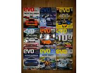 Evo Magazine Issues 130-138 (inc. Car Of The Year 2009 Issue)