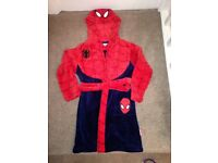Spiderman dressing gown age 6 - 7