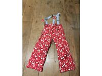 Girls snow/waterproof thick lined trousers.