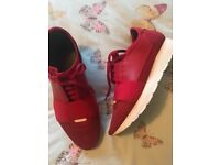 Balenciaga women's red runners... size 5 worn twice