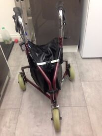 Disability Tri Walker With Bag