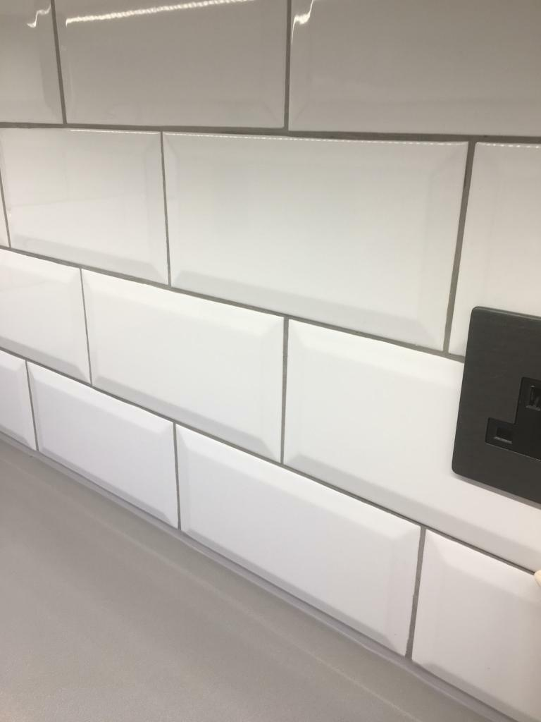 34 White Metro Tiles And Grey Grout In Norwich Norfolk