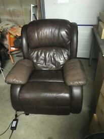 Pair of Quality Leather Electric Recliner Armchairs