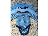 NEXT baby PJs & vests 0-3 months