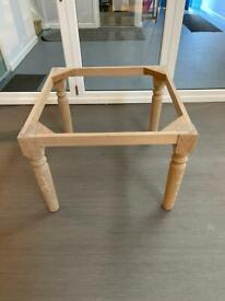 Oak table base