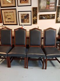 4 leather dining room chairs