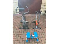 Fitness bikes and fitness stepper