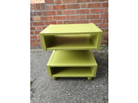 TV or Hifi Stand/Unit (lime green colour)