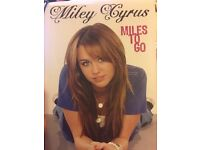 Miley Cyrus- Miles to go (HARDBACK book)