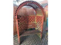 Arched garden arbour