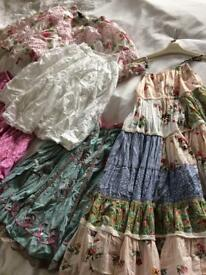 Girls summer skirts & dress age 6-8 years