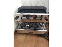 Commercial Carraro Coffee Machine 2 group handles BASICALLY BRAND NEW
