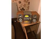 Sony micro hi/fi with cd tape and radio no speaker covers