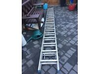 Large 15 foot aluminium double ladder