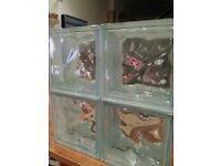 10 glass blocks All new boxed 20 POUNDS ( MORE IF U NEED)