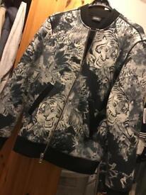 Diesel jacket with unique print, size Medium