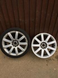 2x alloy wheels