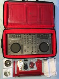 Pioneer DDJ-T1 Traktor Controller Full Kit with Bag and Stand