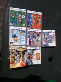 7 nintendo ds games all boxed with instructions