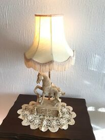 Stunning Decorative Lamp Depicting Horse