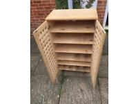 Pine shoe cupboard rack
