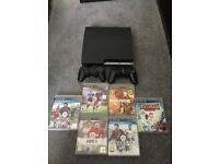 PS3 160GB with controllers and games