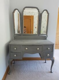 Painted Dressing Table with Mirror