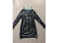 Black sparkling Party Dress