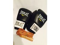 Men's Everlast Boxing Gloves 14 oz. and Skipping Rope