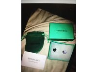 Tiffany n co heart studs new in gift pouch