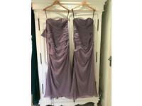 Two Sorella Vita lilac Bridesmaid Dresses