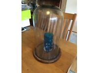 Large glass display globe for antique/retro display