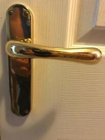 Door handles - Brass - 10 pairs