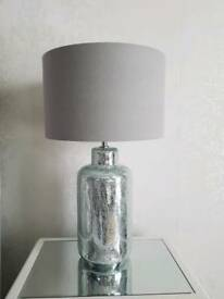 Silver bedside table lamp