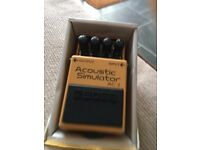 BOSS ACOUSTIC SIMULATOR NEVER GIGGED WITH BRAND NEW IN BOX COST £120 LAST YEAR