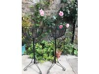 Conservatory plant stands (pair)