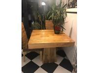 Mango wood table (and chairs)