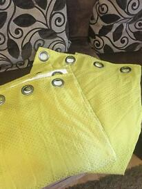 """Heavy fully lined lime green curtains 90"""" x 90"""""""