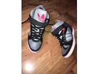 Women's Addidas wedge trainers size 9