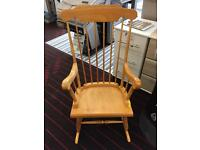 Rocking Chair solid wood Nursery