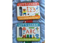 Let's learn 123 and abc hardback back books rrp £12.99 each