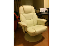 *****OFFICE CHAIR***CREAM**LOOK LIKE NEW***40 £ ONLY **********