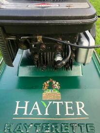 """Hayter Petrol lawnmower for mulching 19""""cut alloy deck serviced sharpened Mower PWO any test"""