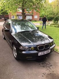 BMW 318ti SE, COMPACT 3DR. FOR SALE DUE TO WORK VAN.