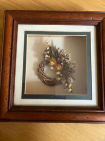 Framed 3D floral picture