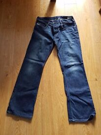 2 pairs of Womens Diesel jeans.mint condition.waist 32 and length30.dark and light blue . £60