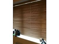 3 x wooden blinds with brackets £20 each blind