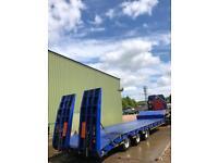 3 axle low loader trailer
